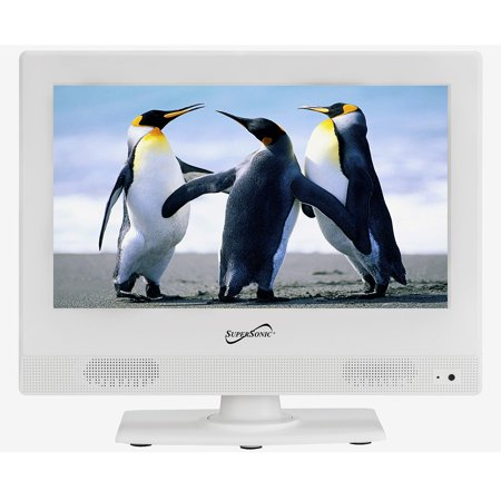 Supersonic SC-1311 White 13.3″ LED Widescreen HDTV 1080p Television w/ HDMI In Kitchen