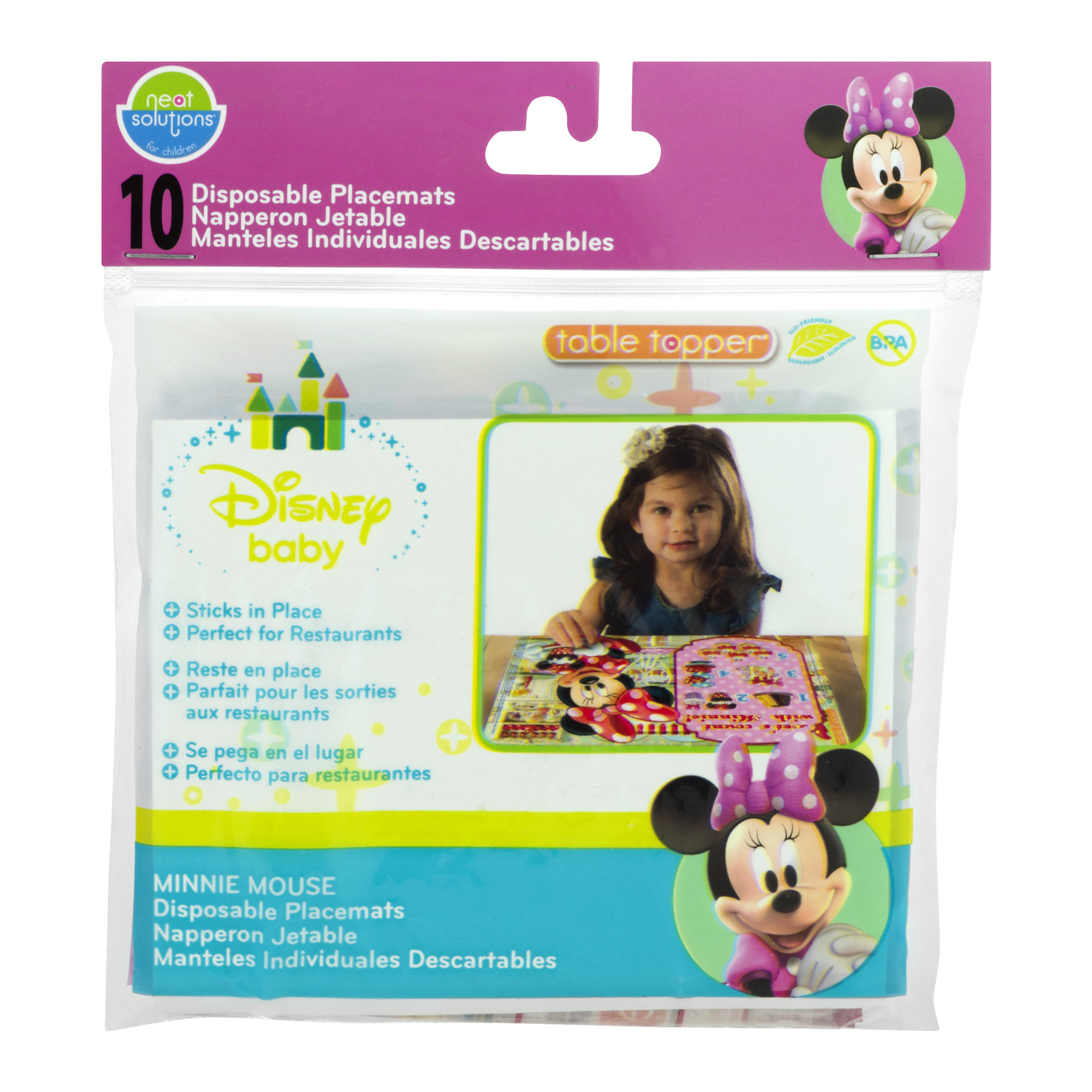 Neat Solutions Disney Minnie Mouse Disposable Placemats - 10 CT10.0 CT