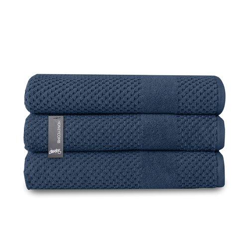 Chortex Honeycomb Turkish Cotton Bath Towel (Set of 3)