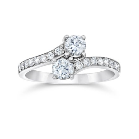 tone two ring rings engagement solitaire preset accented pid e wedding gold diamond