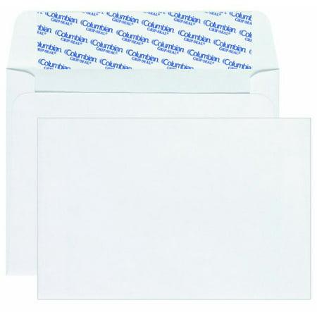 - Columbian Invitation Envelopes, A9, Grip-Seal, 5.75 x 8.75 Inch, White, 100 Per Box (CO468)