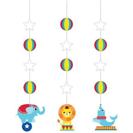 Creative Converting Circus Party Hanging Cutouts, 3 ct - Carnival Cutouts