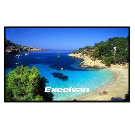 Excelvan Indoor Outdoor Portable Movie Screen 100 Inch 16:9 Home Cinema Projector Screen Roll Easily, PVC Fabric ()