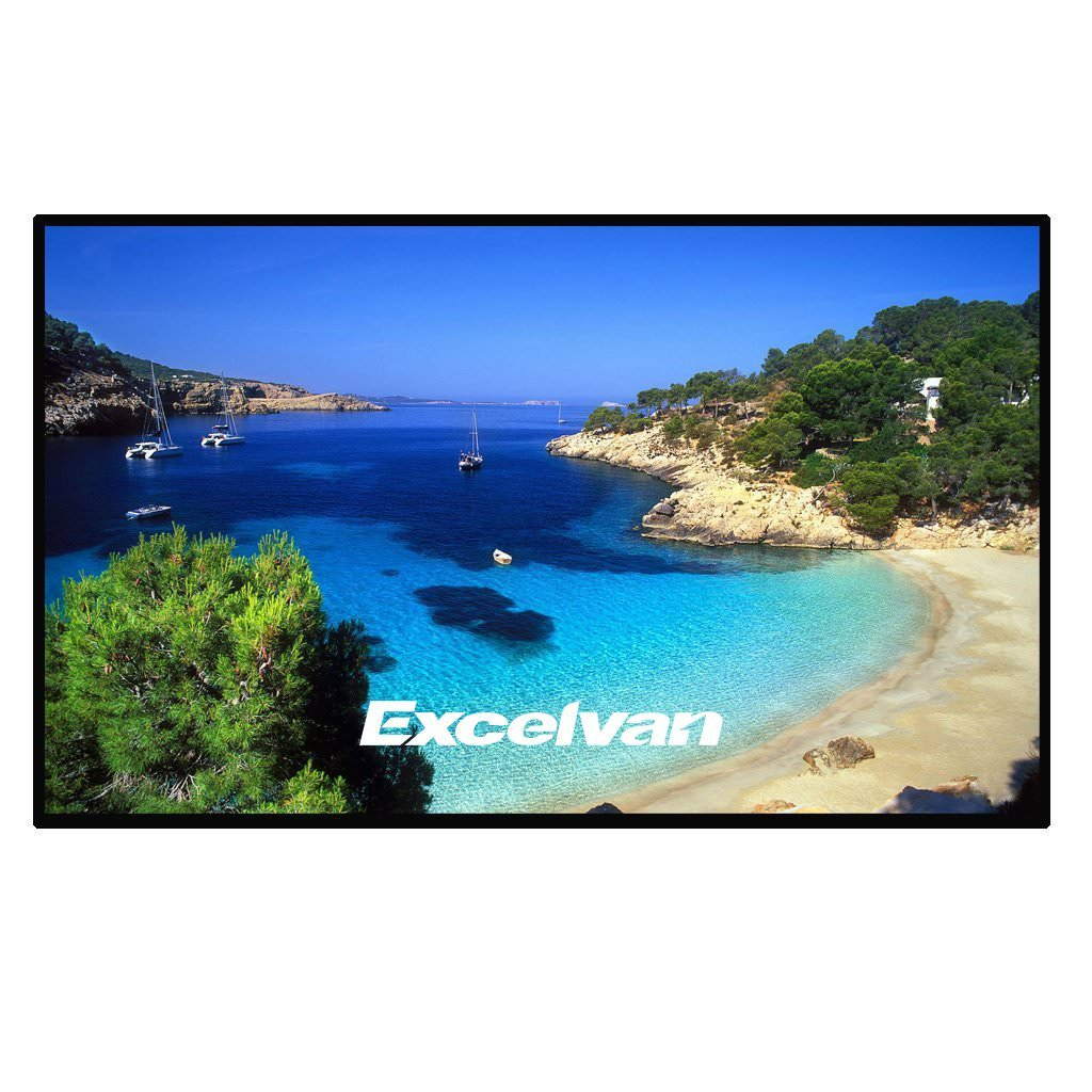 Excelvan Indoor Outdoor Portable Movie Screen 100 Inch 16:9 Home Cinema Projector Screen Roll Easily, PVC Fabric