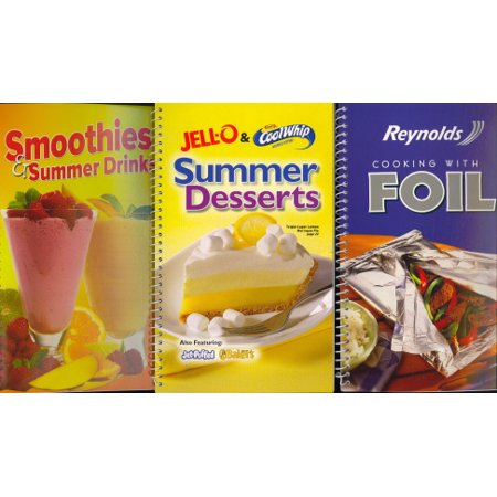 3-Pack Cookbooks (Smoothies & Summer Drinks/Reynolds Cooking with Foil/Jell-O & Cool Whip Summer Desserts)