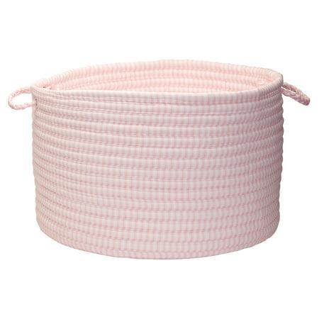 Basket Pink Office Decor (Colonial Mills Ticking Solids Basket)