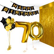 Birthday Decorations Happy Bday Banner Party Kit Pack B Day Celebration Supplies With Gold And