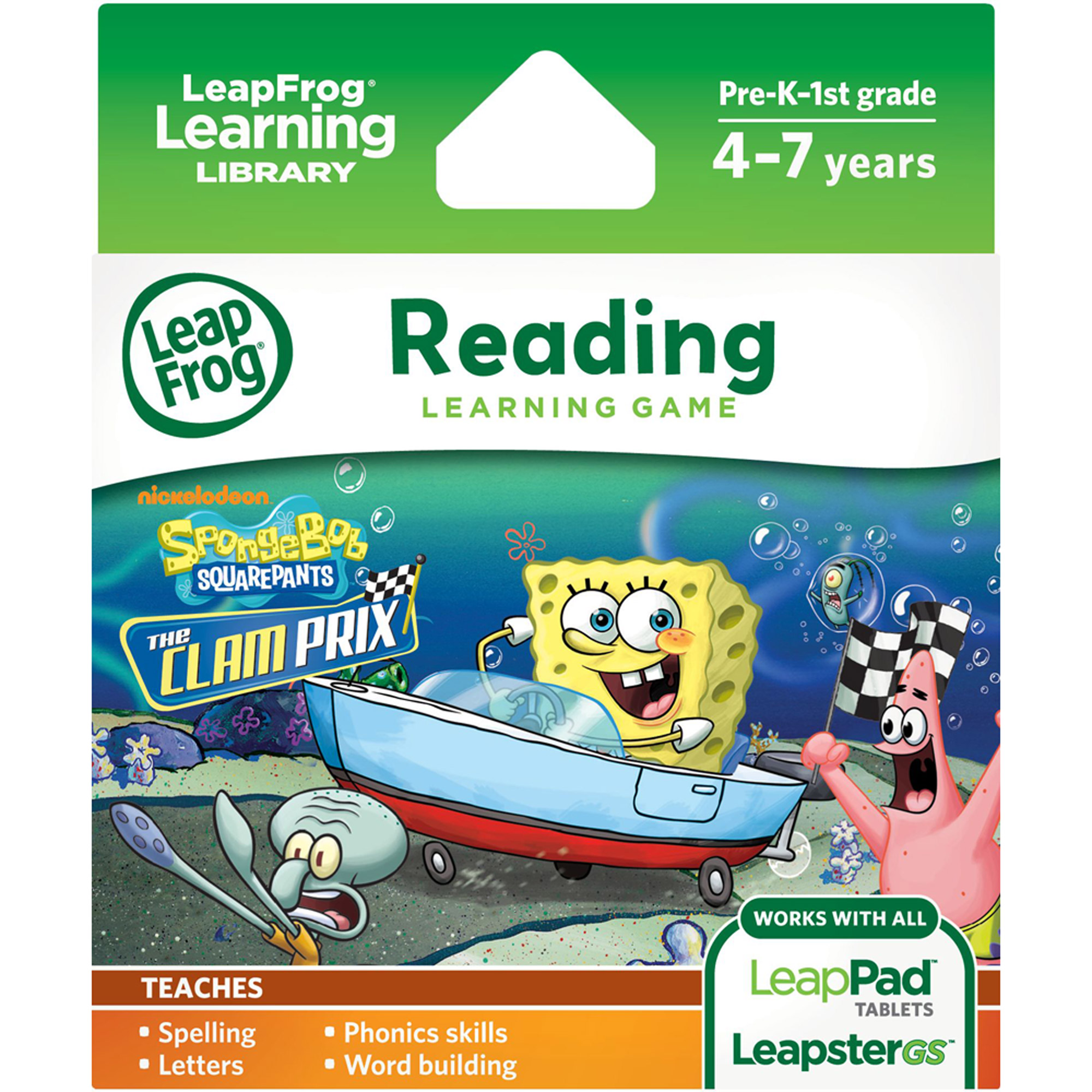 LeapFrog Explorer & LeapPad Learning Game: SpongeBob SquarePants: The Clam Prix