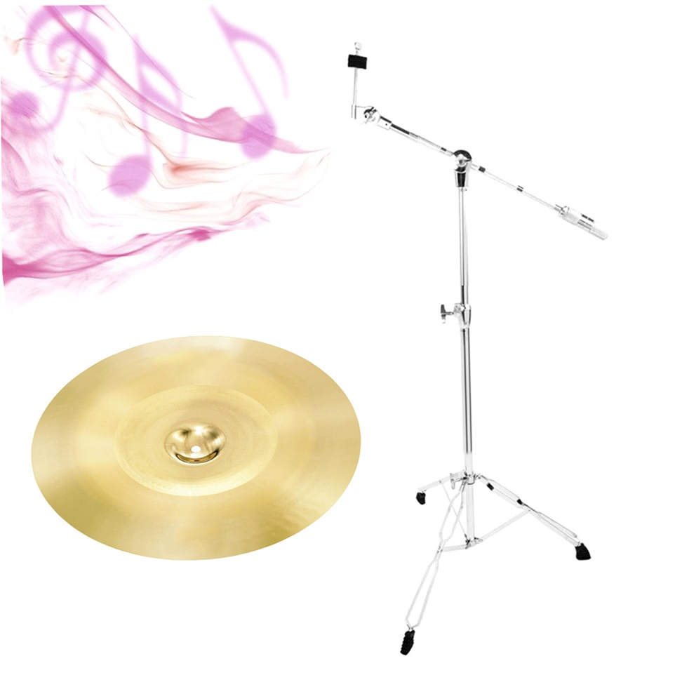 Light-weighted Fodable Cymbal Stand Stainless Steel Drum Cymbal Boom Stand with Double... by