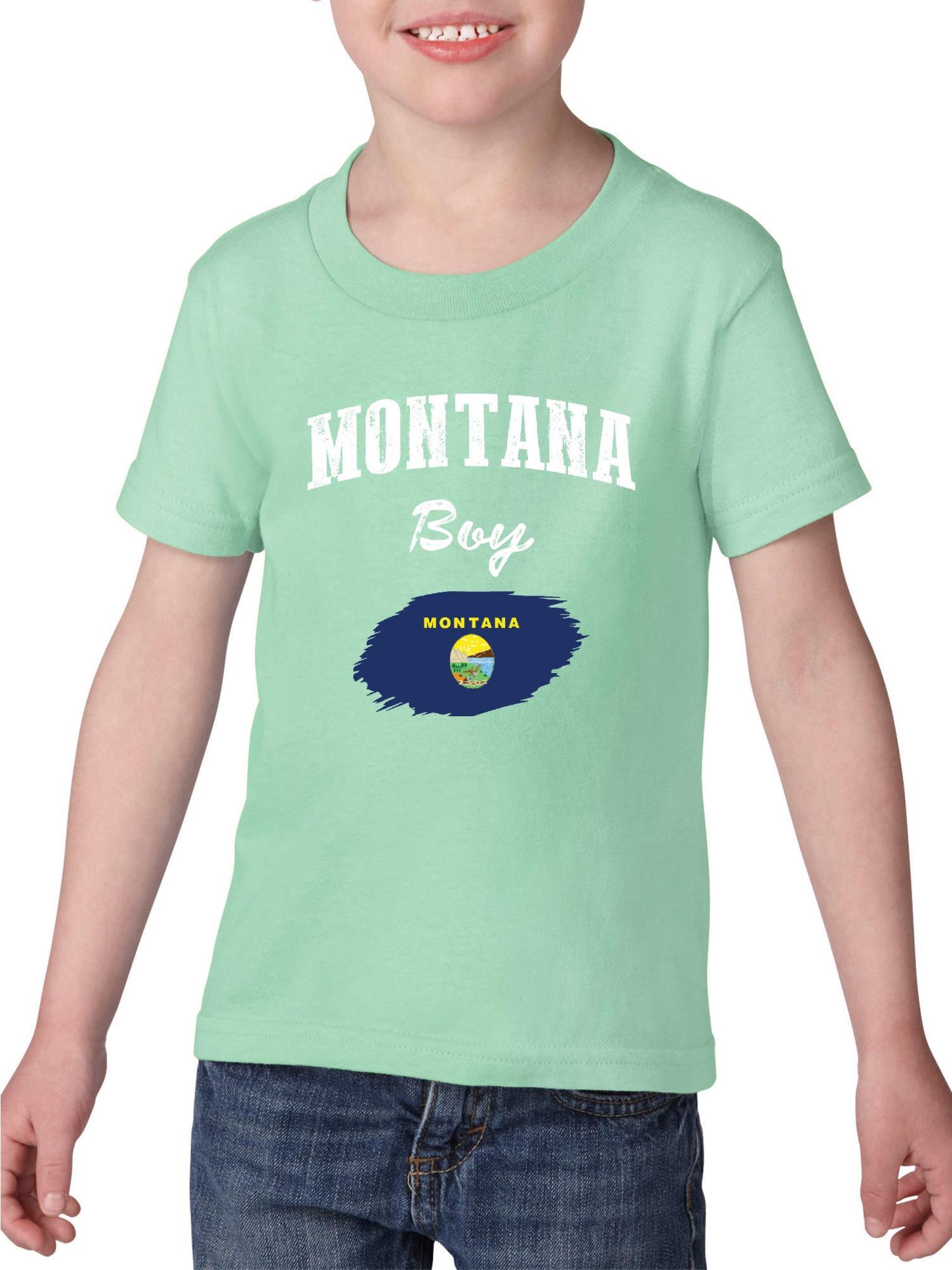 Montana Boy Heavy Cotton Toddler Kids T-Shirt Tee Clothing