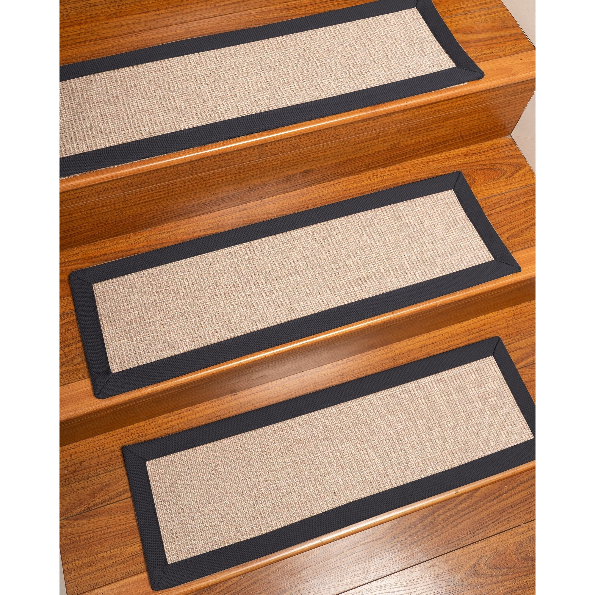 Etonnant Natural Area Rugs 100% Natural Fiber Blair, Sisal Beige/Rose, Handmade  Custom Stair Treads Carpet Set Of 4 Midnight Blue Border