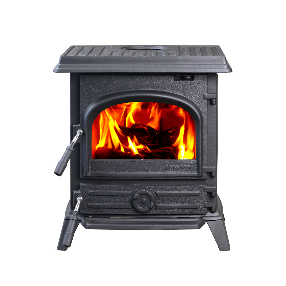 HiFlame EPA Certified 1600sq ft cast iron wood stove fireplace for homely heating HF517UB