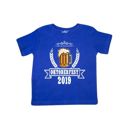 Oktoberfest 2019 with Beer Banner and Wheat Toddler T-Shirt