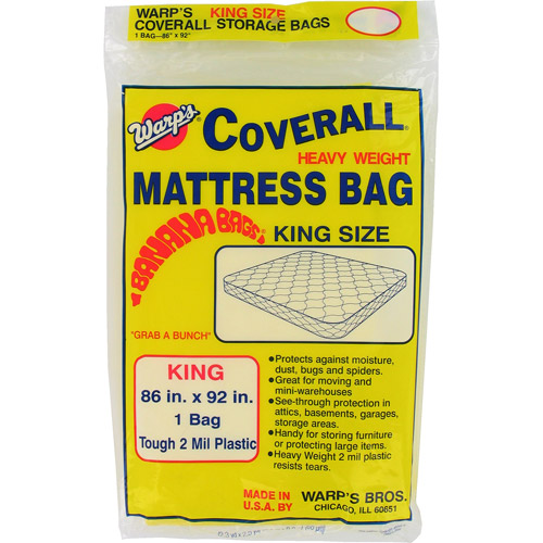 "Warps CB-86 86"" x 92"" King Size Banana Bags Mattress Bag"