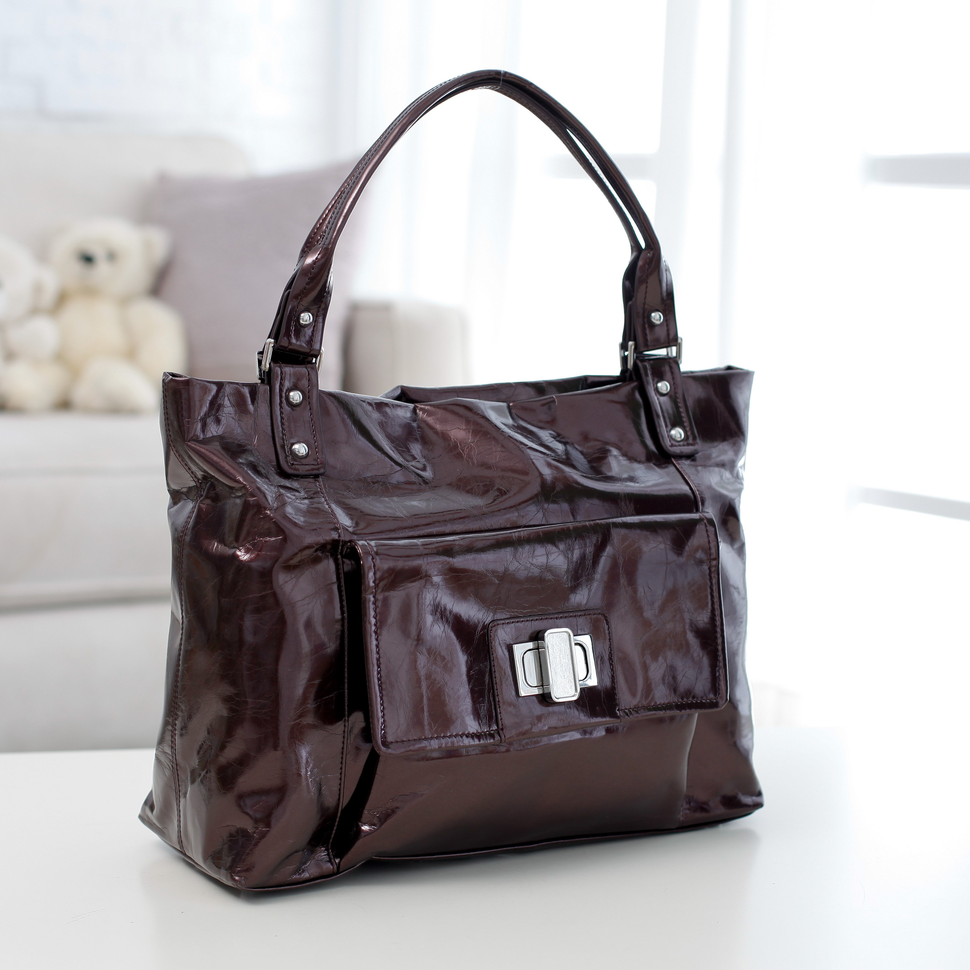 Amy Michelle Cosmo Go Bebe Diaper Bag - Chocolate
