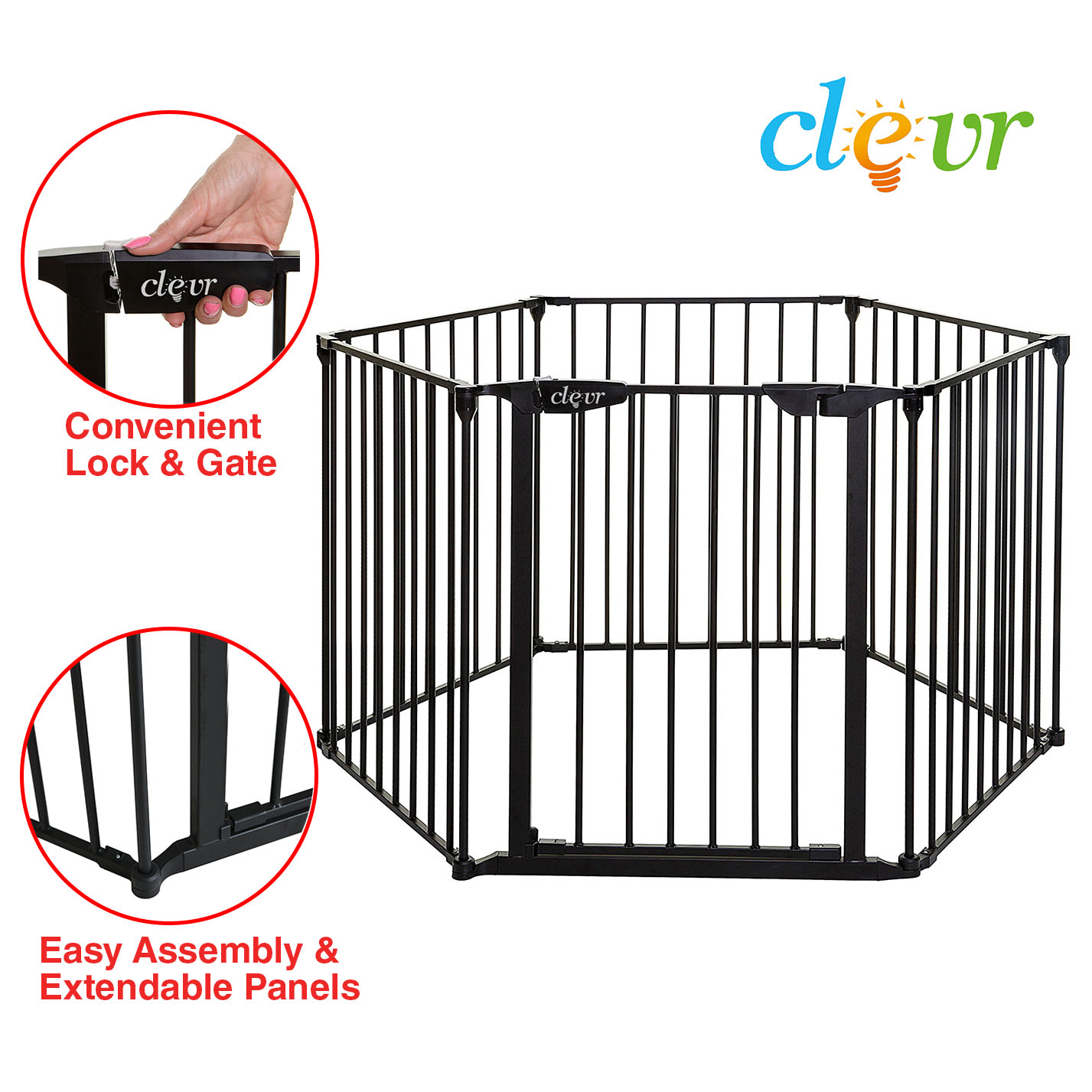 New Clevr Baby Playpen Playard Gate Fence
