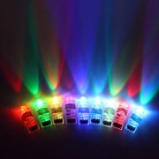 Midafon 7 Color 100 Pieces Bright LED Finger Flashlights Lamps Light up Toys Party Favors Assorted Color