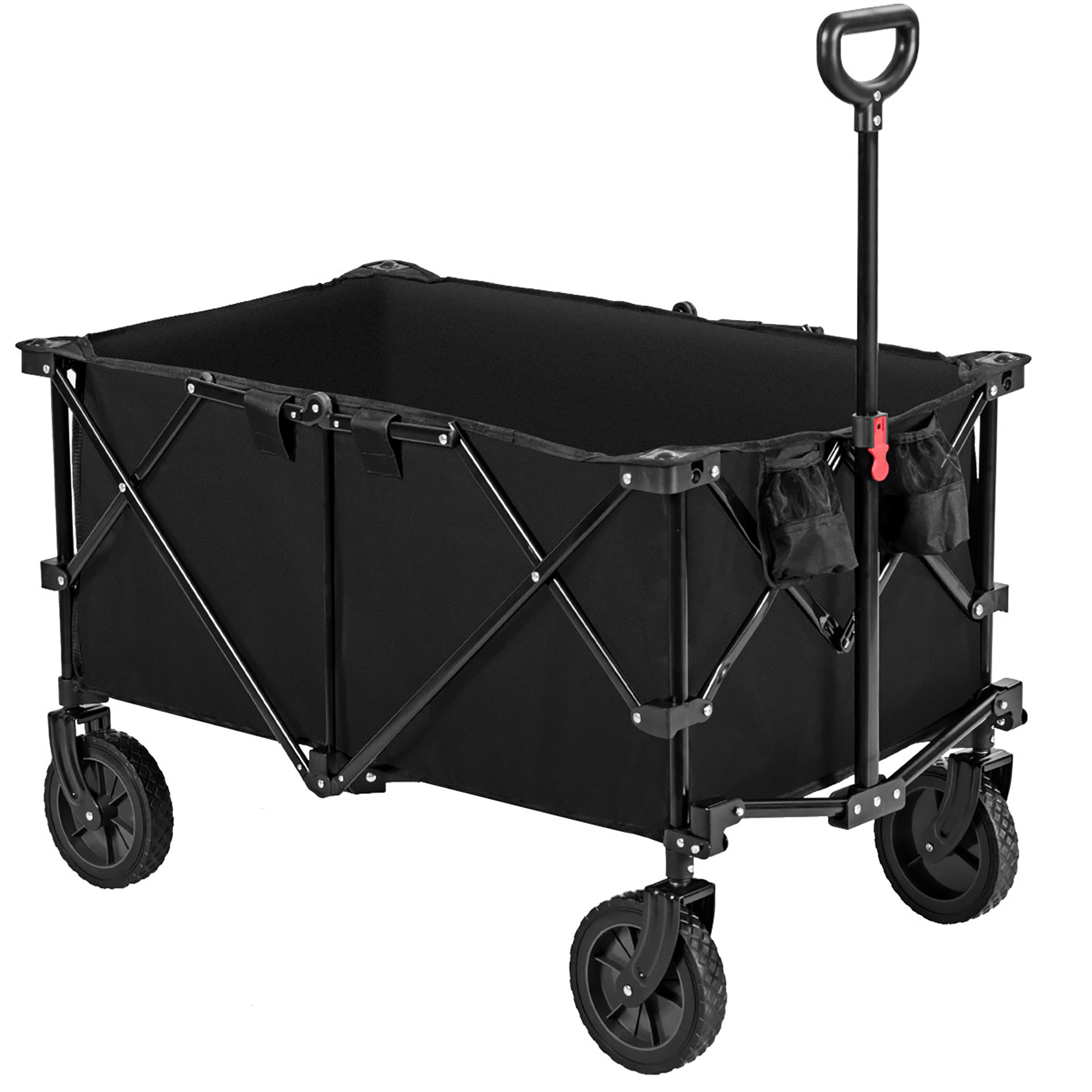 Navy Blue Coastrail Outdoor Collapsible Folding Wagon Utility Garden Cart 180lbs Heavy Duty All Terrain Universal Wheels /& Telescoping Handle for Camping Grocery Sports Shopping