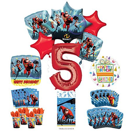 Incredibles Party Supplies 8 Guests 5th Birthday Balloon Bouquet Decorations](5th Birthday Party Ideas)
