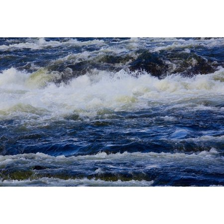 LAMINATED POSTER Waves River Water Blue Water Courses Poster Print 24 x (Course Wave)