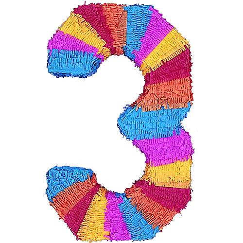 """Numeral Pinata, """"3"""""""