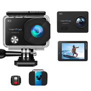 VanTop Moment 3, 4K Wifi Action Camera, Sports Camera with16MP Sony Sensor, Gopro Compatible Case,Remote Control, Ultra Wide View Angle, 2 Batteries and 21 GoPro Compatible Accessories Kits - Best Reviews Guide