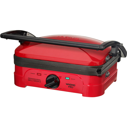 Waring Pro Grill WGG500RQ Red -CERTIFIED REFURBISHED
