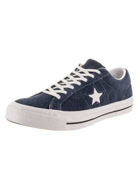 Product Image Mens Converse One Star Ox Low Suede Black White 158369C 4e0715a7dd8bf