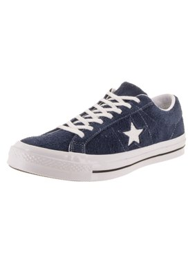 466deae85f0b Product Image Mens Converse One Star Ox Low Suede Black White 158369C