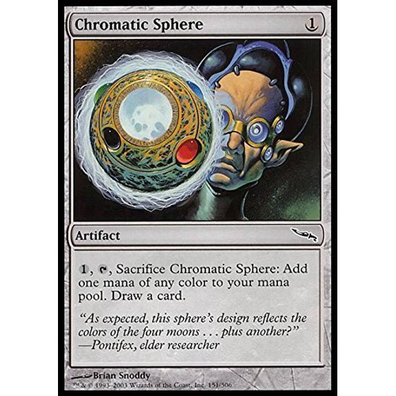 Chromatic Sphere - Mirrodin, A single individual card from