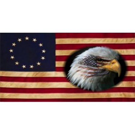 - Betsy Ross 13 Colonies Flag With Eagle Photo License Plate