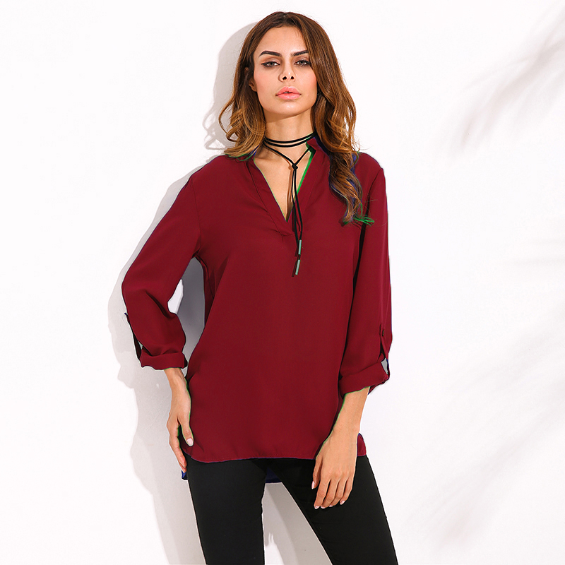 ZANZEA Womens Long Sleeve Chiffon Casual Loose Blouses