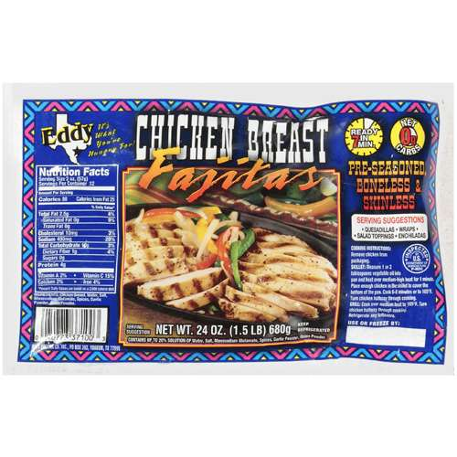 John Soules Foods Restaurant Quality Chicken Breast With Rib Meat For Fajitas, 24 oz