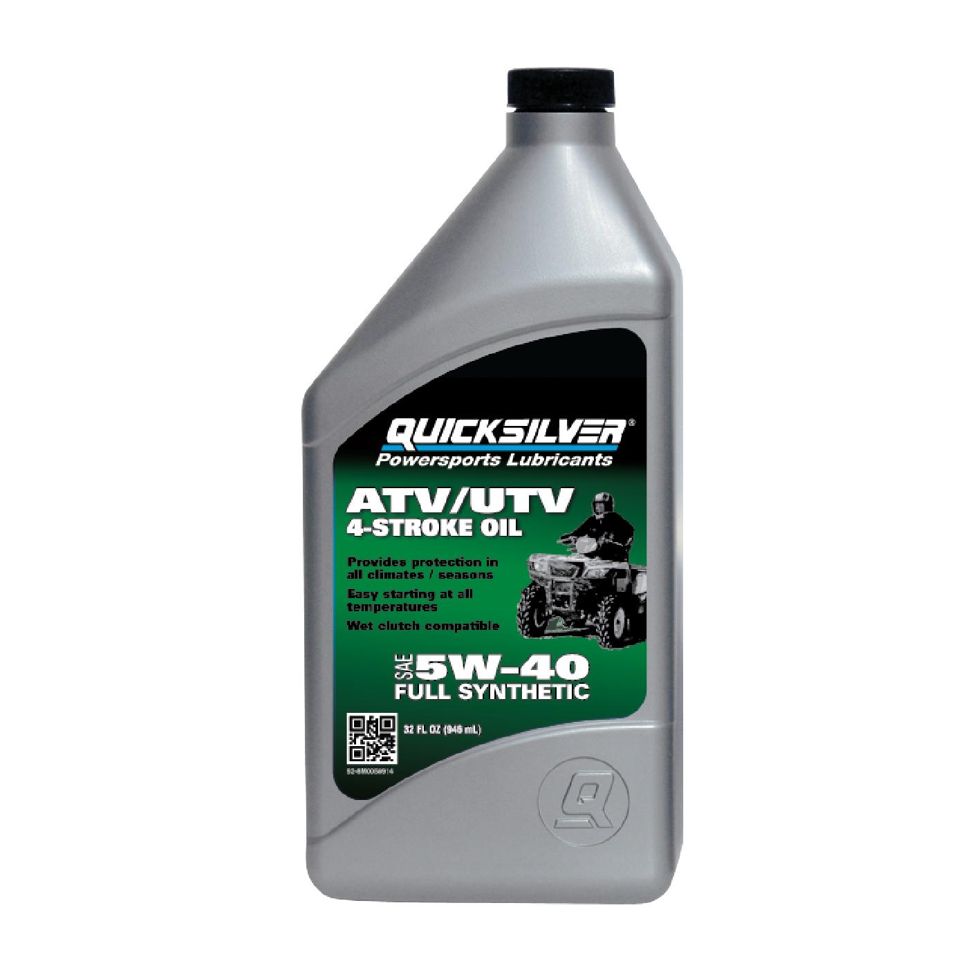 Quicksilver 5W-40 ATV/UTV Oil, 1 qt