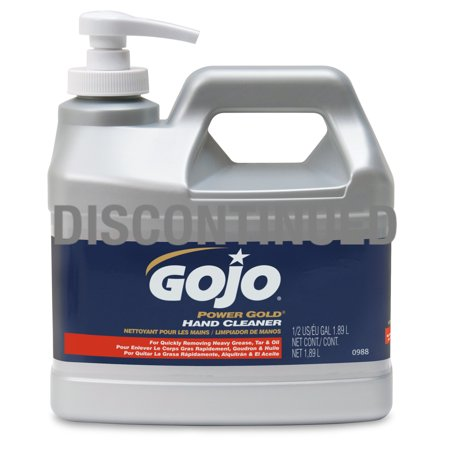 Gojo  Power Gold Hand Cleaner   1 2 Gallon Pump Bottle