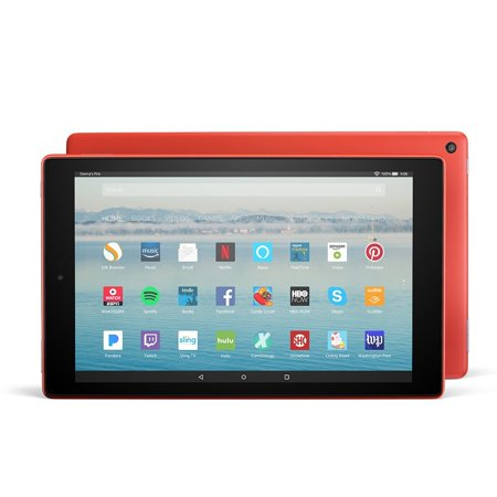 Fire Hd 10 Tablet With Alexa Hands Free  10 1    64 Gb  Punch Red