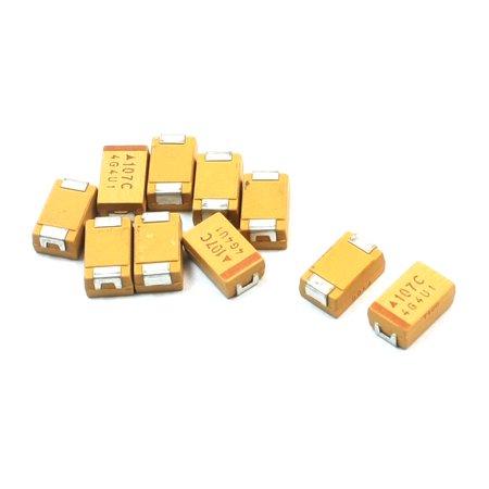 10pcs D Type Surface Mount 100uF 16V Chip Tantalum Capacitors