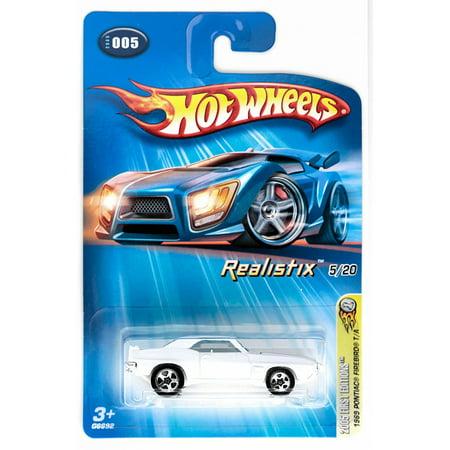 Mattel 2005 1:64 Scale White 1969 Pontiac Firebird Die Cast Car #005, 2005 (Realistix) First Editions By Hot Wheels