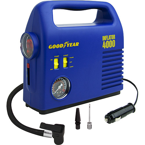 Goodyear 12 Volt Inflator i4000 w/ 4-way Emergency Light