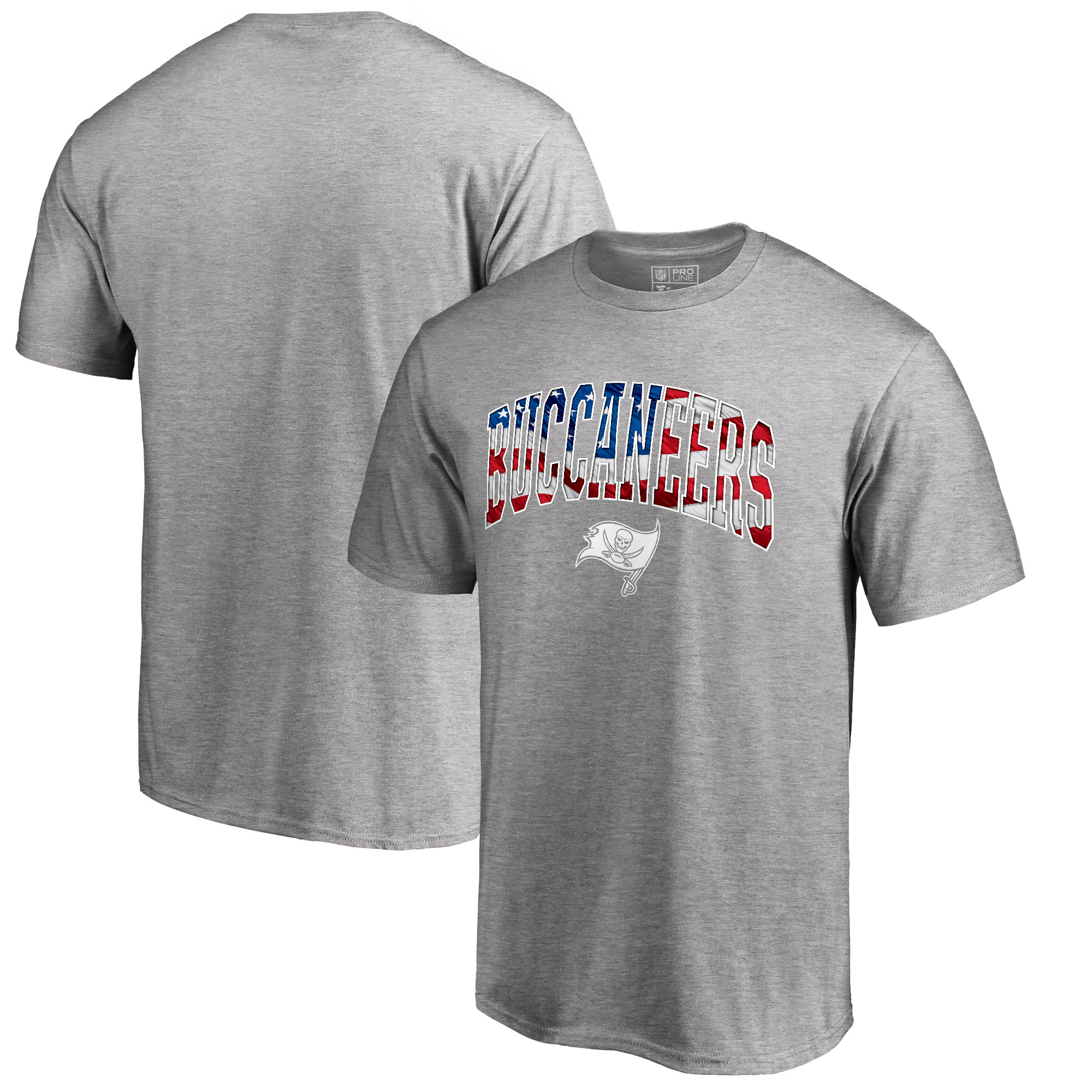 Tampa Bay Buccaneers Pro Line by Fanatics Branded Banner Wave T-Shirt - Heathered Gray