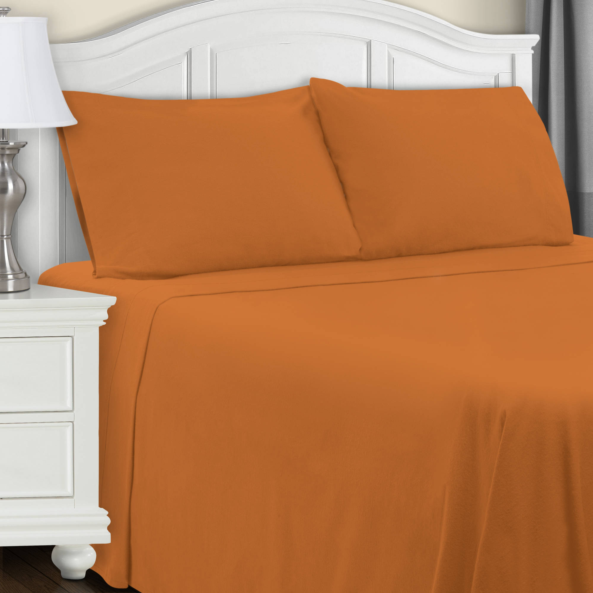 Superior Extra Soft and All Season 100 Percent Brushed Cotton Flannel Solid Sheet Set
