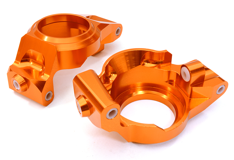 Integy C26840ORANGE Billet Machined Caster Blocks: Traxxas X-Maxx 4x4 by Integy