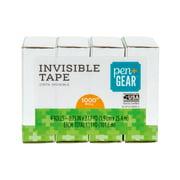 "Pen + Gear Invisible Tape, 3/4"" x 1000"" rolls, 4 Rolls"