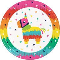 "Fiesta Fun 8 3/4"" Dia. Paper Dinner Plates,Pack of 8 EA"