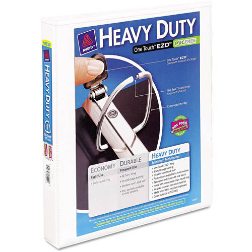 Avery Nonstick Heavy-Duty EZD Reference View Binder, White, Available in Multiple Sizes