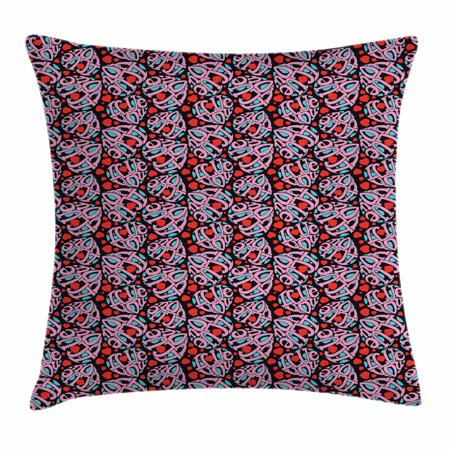 I Love You Throw Pillow Cushion Cover, Composition of the Letters in the Shape of a Heart Declaration of Love Feelings, Decorative Square Accent Pillow Case, 18 X 18 Inches, Multicolor, by Ambesonne - I Love You Letter
