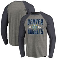 Product Image Denver Nuggets Fanatics Branded Antique Stack Long Sleeve  Tri-Blend Raglan T-Shirt - 5c2d0c392