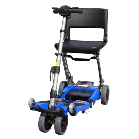 Luggie Standard Foldable Power Mobility Scooter - Blue