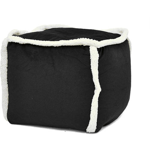 Urban Shop Sherpa Pouf, Available in Multiple Colors