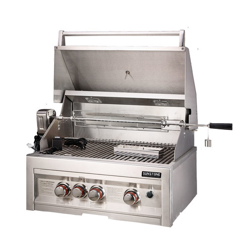 SUNSTONE Grills SUN3B-IR-NG 28 3 Burner Gas Grill with Rotisserie
